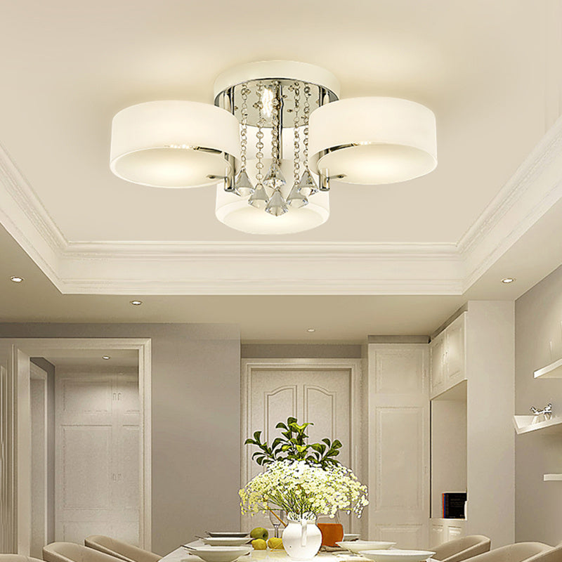 5 Colour Changing Acrylic Chandelier 3 Way Crystal Ceiling Light Lampshade & Remote