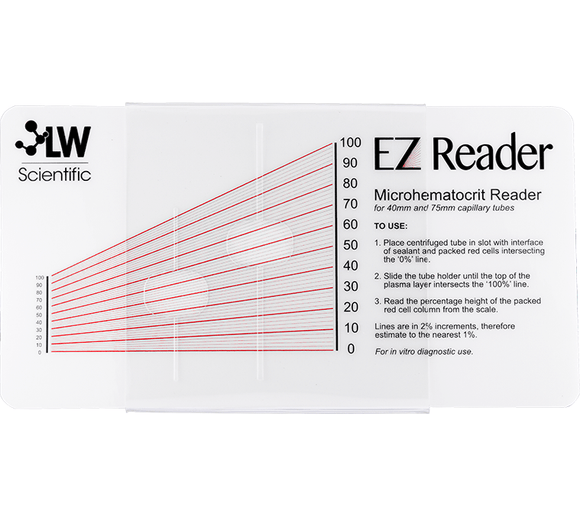 EZ Reader Microhematocrit Card - LabEssentials, Inc.