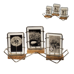 "Triple Transversal Floating Photo Tension Frame 2x3""/Wd Base"