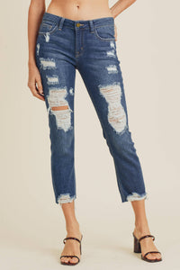 SALE - DP472 - DK - Super Distressed Straight