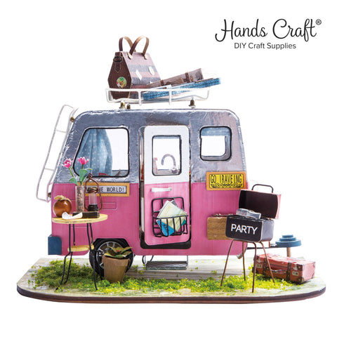 Fairy Happy Camper, DIY Miniature Dollhouse Kit