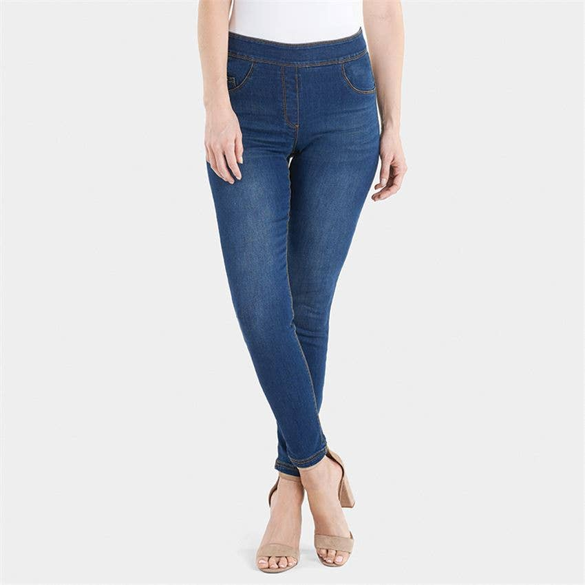 OMG High Rise Skinny Jeans - Dark Denim