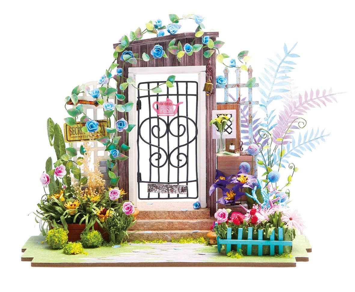DGM02, Garden Entrance, DIY Miniature Dollhouse Kit