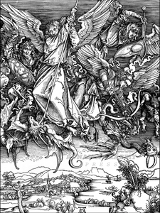 Archangel Michael Driving Satan From Heaven