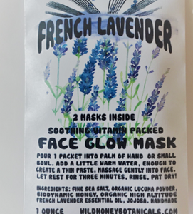 French Lavender Sea Salt face glow mask