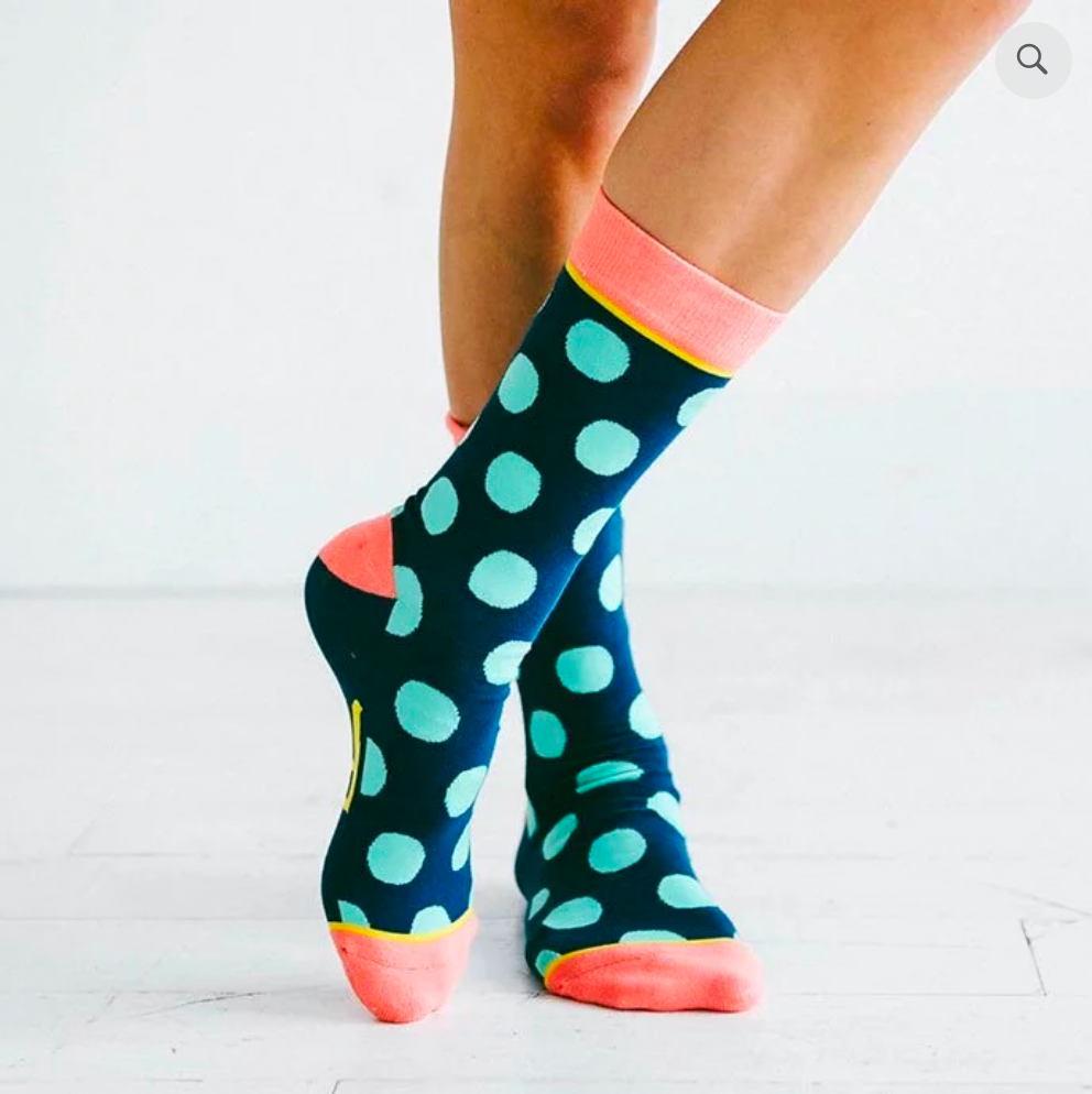 Polka And Dot: Woven Pear Socks