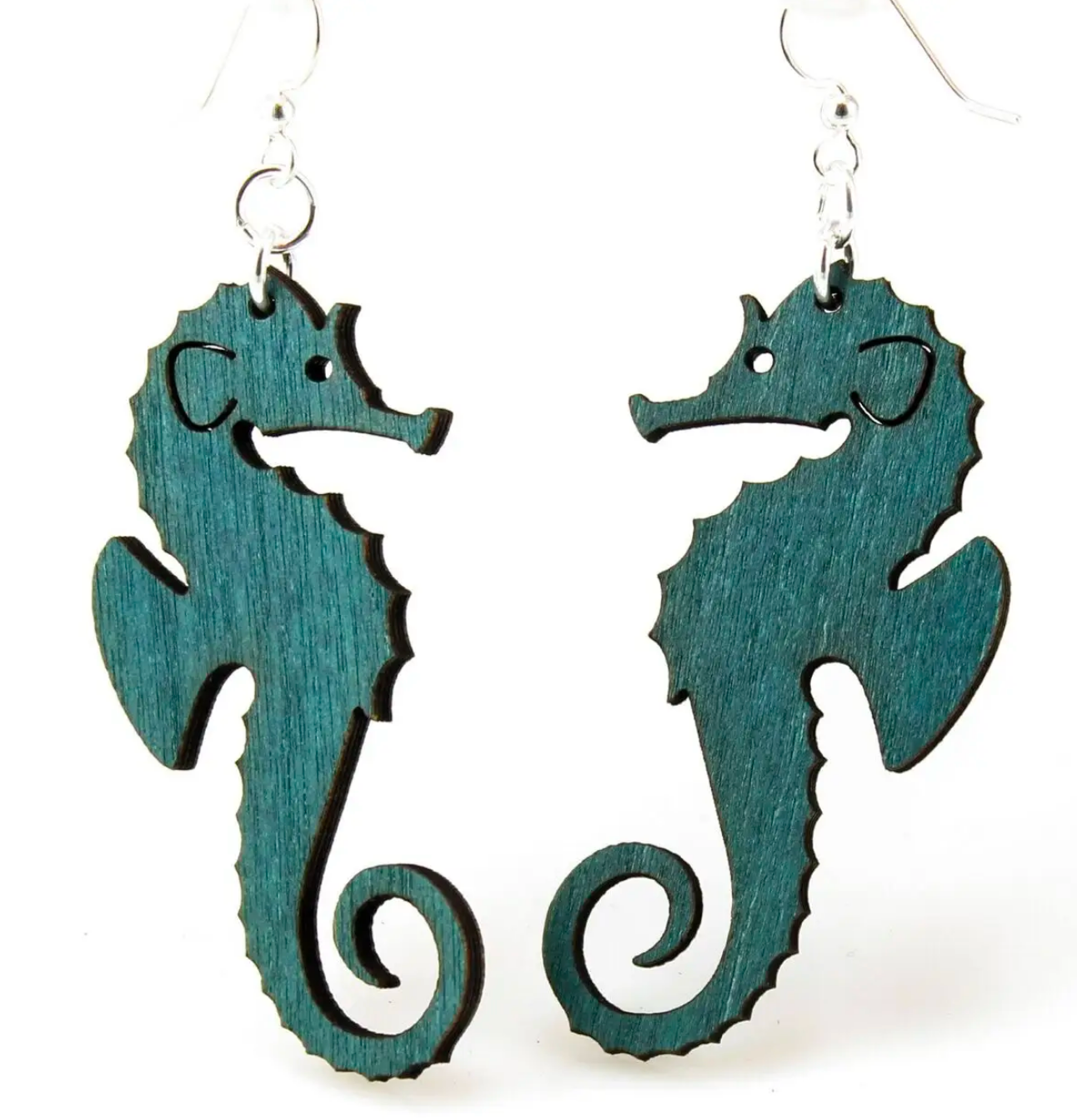 Seahorse - Wood Earrings