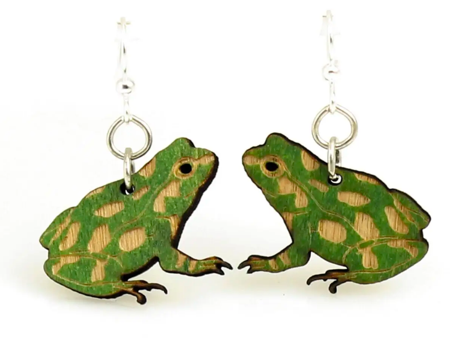 Frog - Wood Earrings