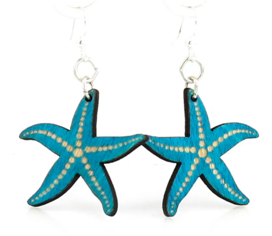 Starfish - Wood Earrings