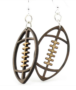 Football - Wood Earrings
