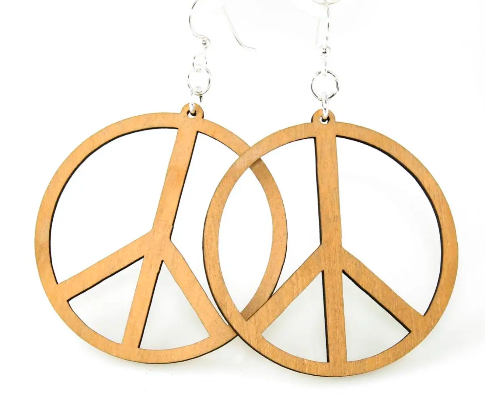 Peace Signs - Wood Earrings