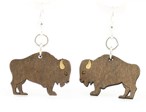 Buffalo - Wood Earrings