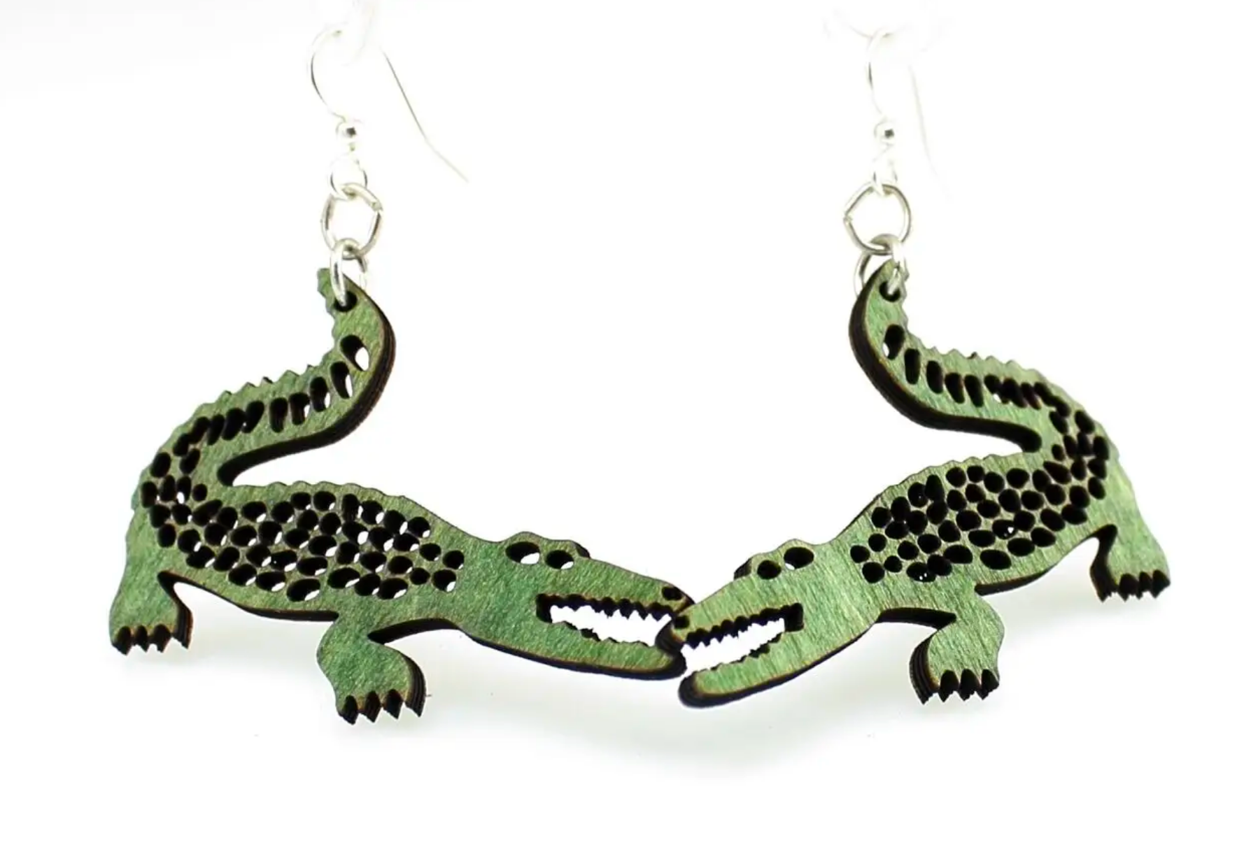 WOOD EARRINGS | Alligator