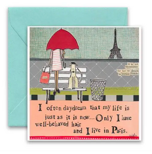 CURLY GIRL CARD | Paris