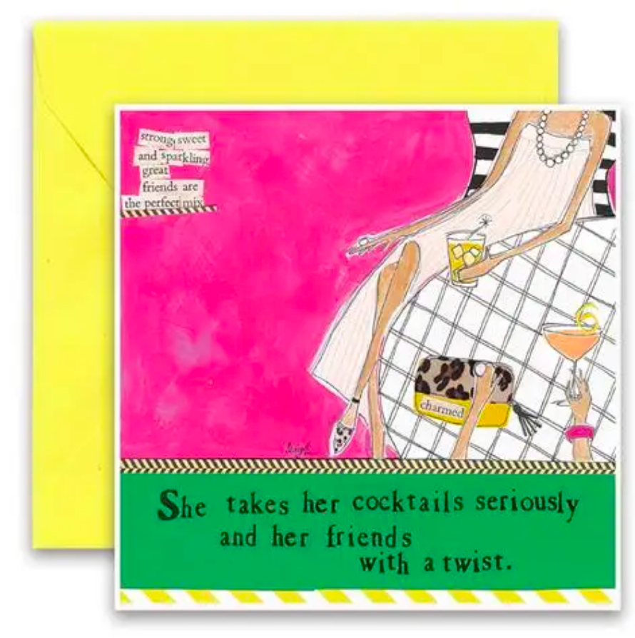 CURLY GIRL CARD | Cocktails