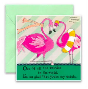 CURLY GIRL CARD | Flamingos
