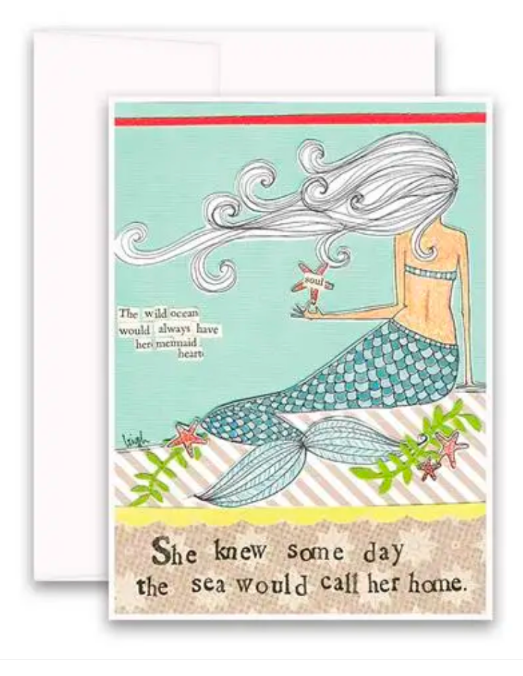 CURLY GIRL CARD | Mermaid Heart