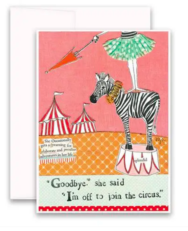 CURLY GIRL CARD | Circus Adventure