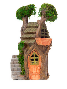 FAIRY GARDEN | Tree House with Moss Accents