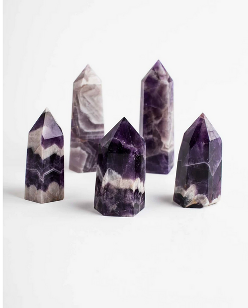 CRYSTAL POINT | chevron amethyst