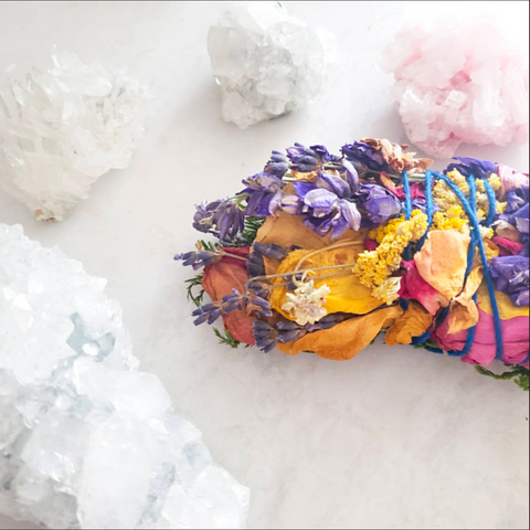 INCENSE | floral smudge bundle