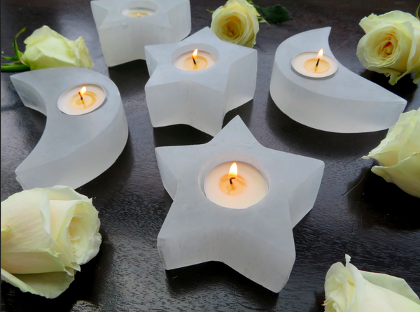 CRYSTAL CANDLE VOTIVE | Selenite Star