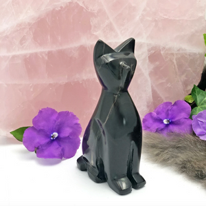 CRYSTAL | Black Onyx Cat