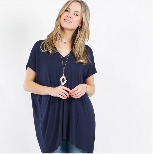 APPAREL | navy loose fit tunic