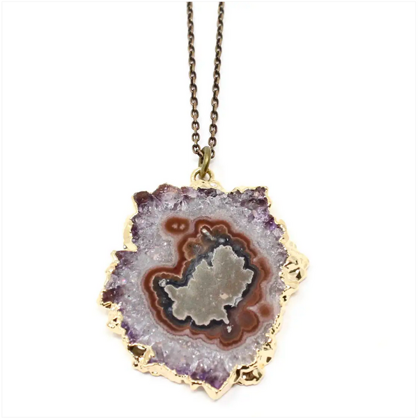 JEWELRY | fancy geode one-of-a-kind necklace