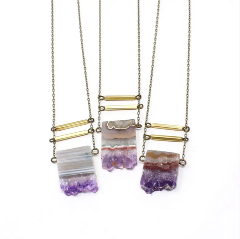 JEWELRY | amethyst eliza necklace