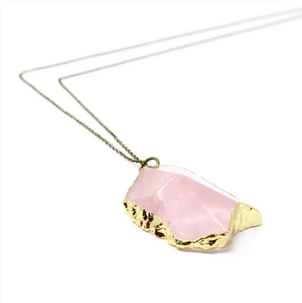 JEWELRY | rose quartz hive necklace