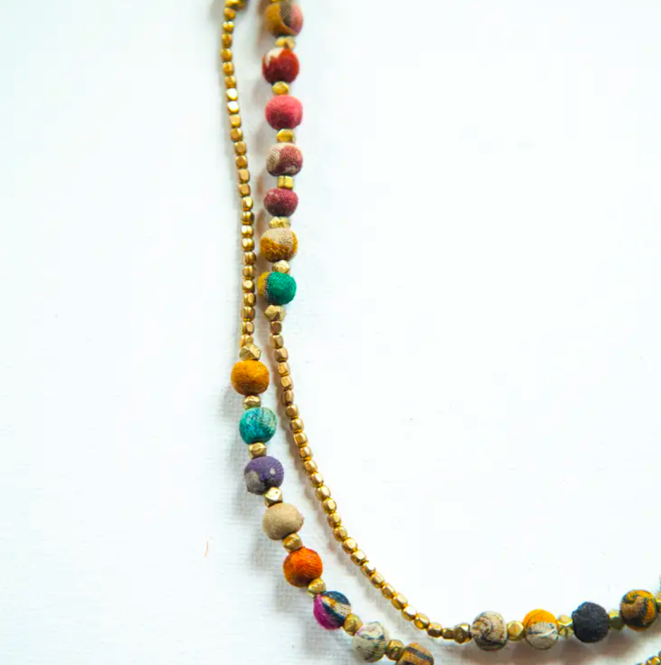 JEWELRY | sari silk upcycled long necklace