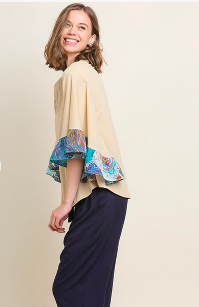 APPAREL | perfectly paisley bell top