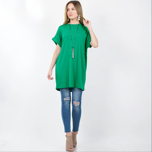 APPAREL | kelly green tunic