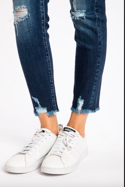 DENIM | kancan high-rise button fly ankle skinny jeans
