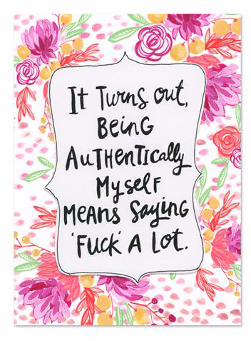 Authentically Myself Magnet by Curly Girl Designs