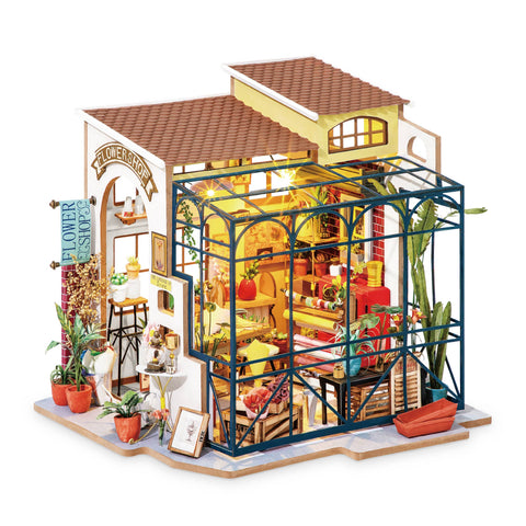 Flower Shop DIY Miniature Dollhouse Kit