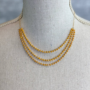 Desiree Necklace - Mustard