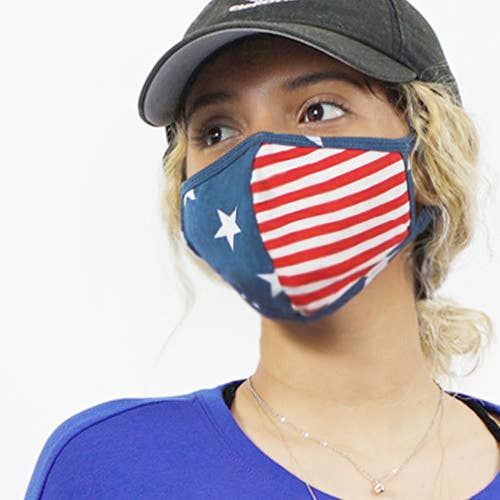 Stars and Stripes Mask (made in USA) SALE