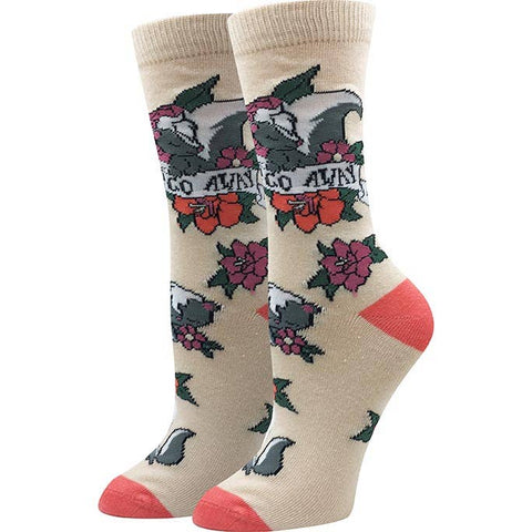 Go Away (Skunk) Socks