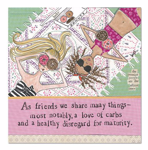 Love of Carbs Magnet by Curly Girl Designs