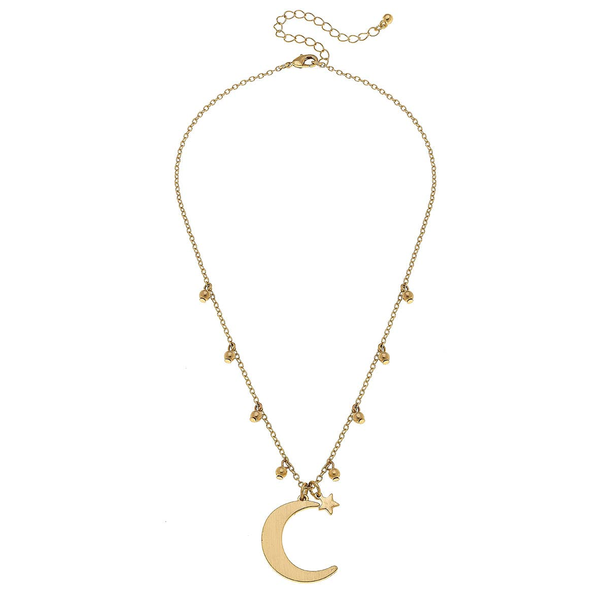 Juliette Moon Necklace in Satin Gold