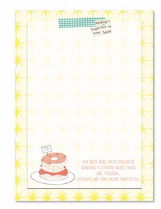 Donuts Notepad by Curly Girl Designs