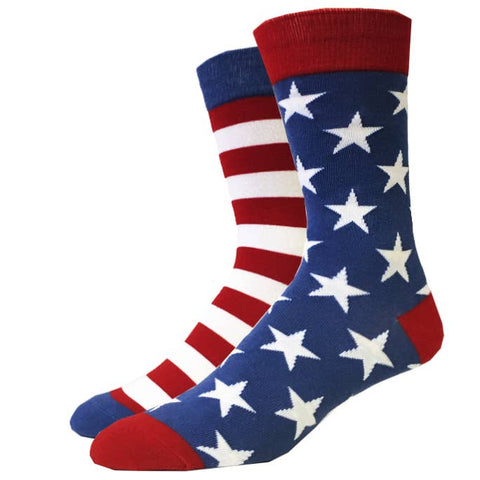 Vintage USA Flag Socks