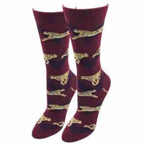 Ladies Cheetah Socks