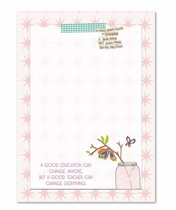 Good Teacher Notepad by Curly Girl Designs
