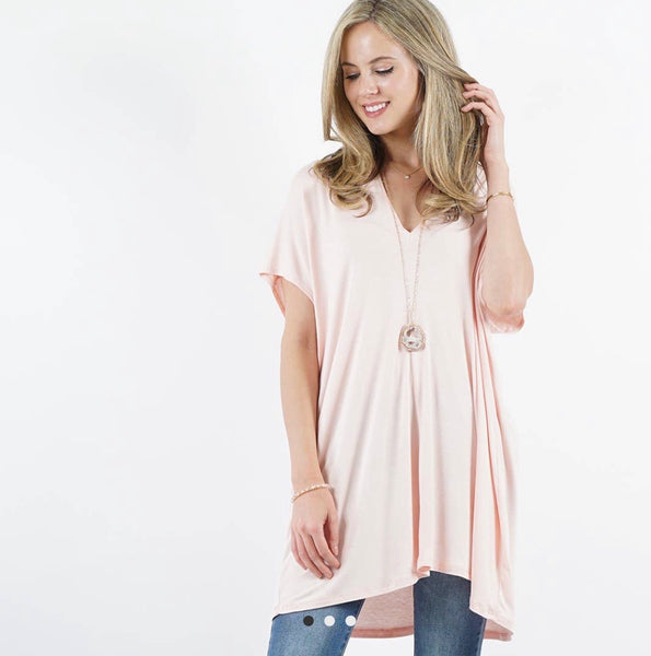 APPAREL | blush loose fit tunic