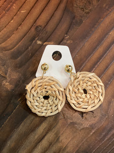 SALE | wicker round earrings