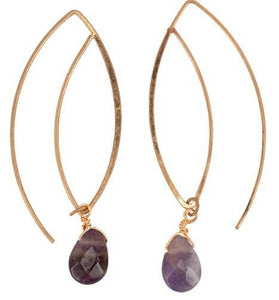 JEWELRY | gold hook + amethyst drop