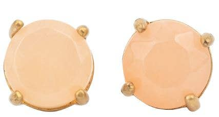 JEWELRY | rose quartz + gold studs